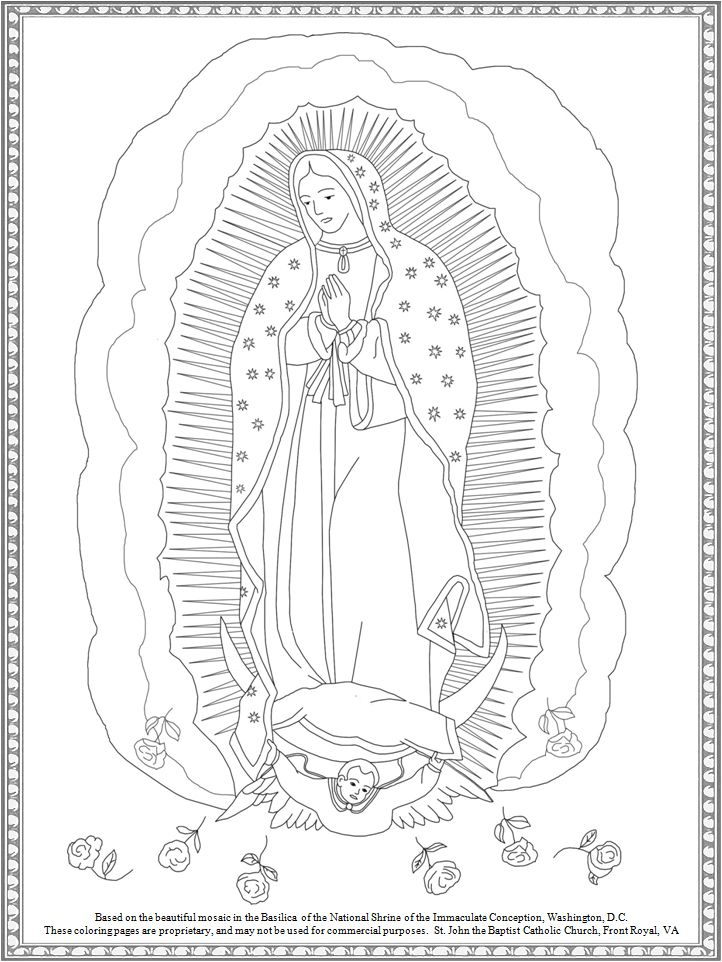 Free Our Lady of Guadalupe coloring page from St. John the Baptist ...