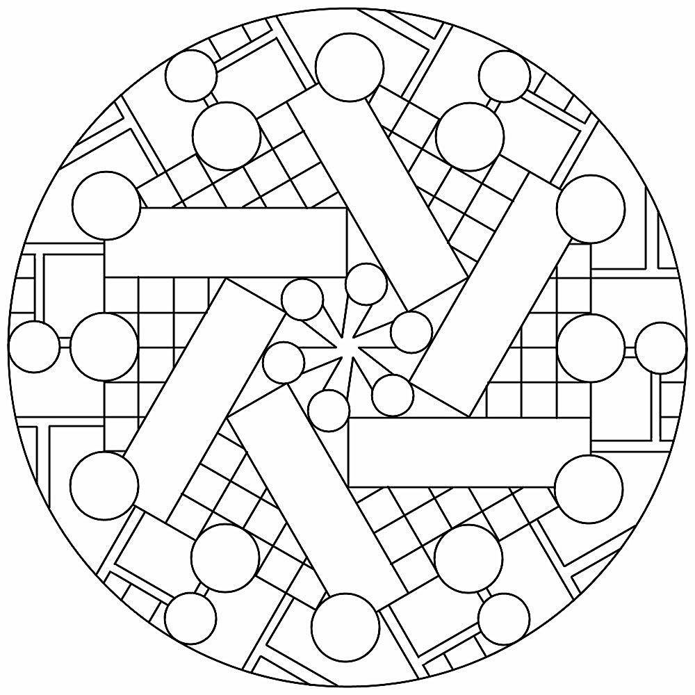 Mandala 126 Geometric Coloring Pages Mandala Coloring Pages Mandala