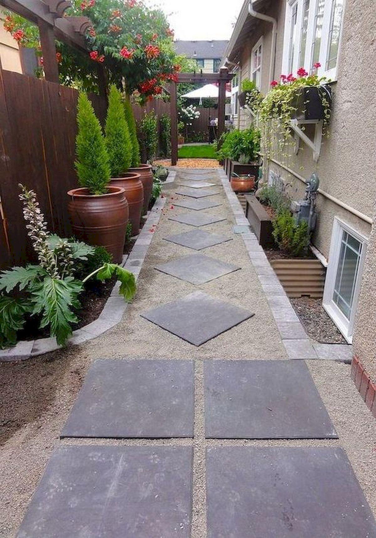 33 Stunning Side Yard Garden Design Ideas #sideyards