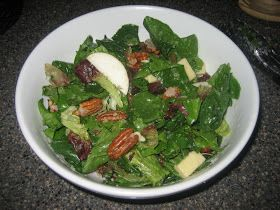 Pie Birds, Buttons and Muddy Puddles: Apple Vinaigrette with Spinach Fall Salad