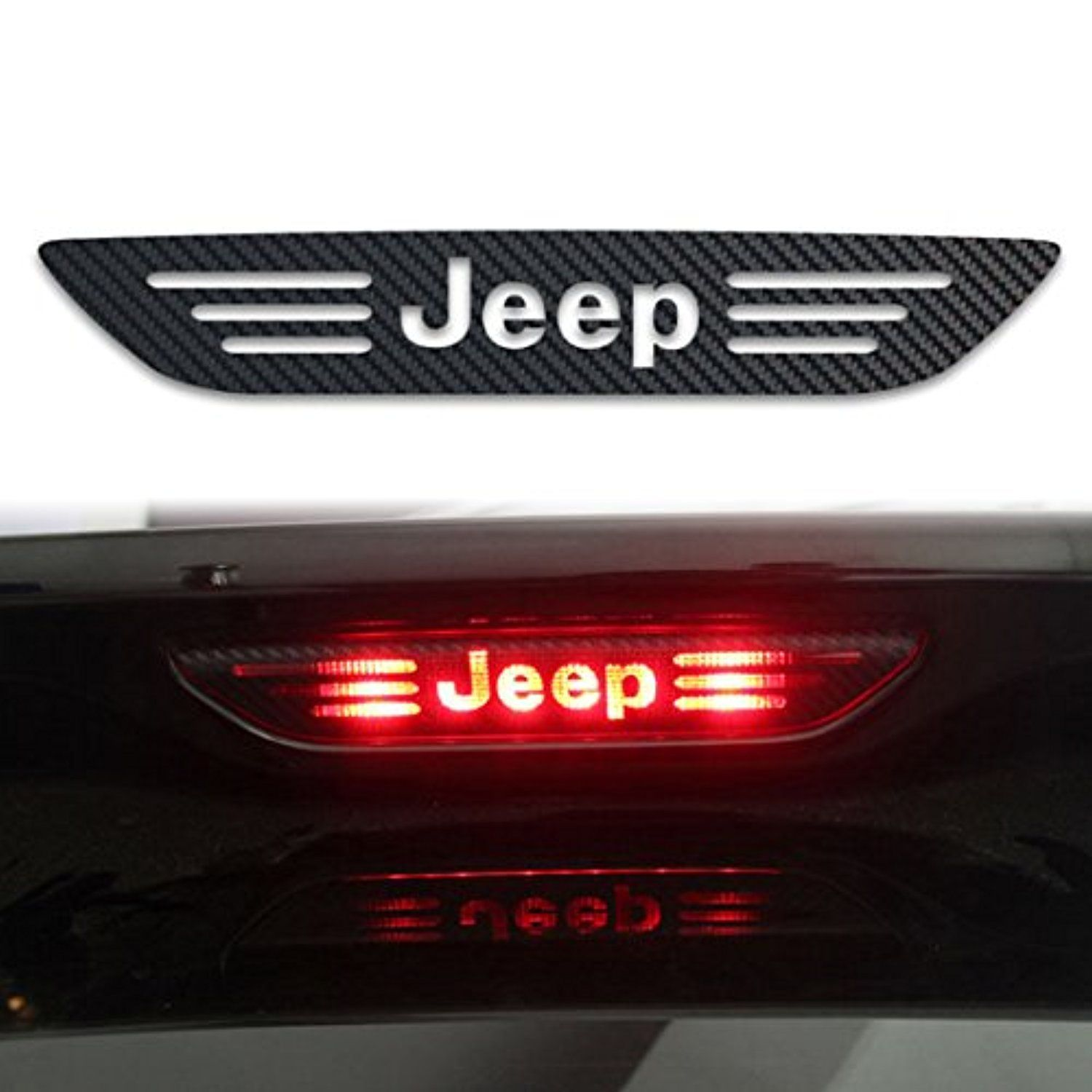 Jeep sticker tail light brake lamp decal carbon fiber sticker for jeep grand cherokee compass