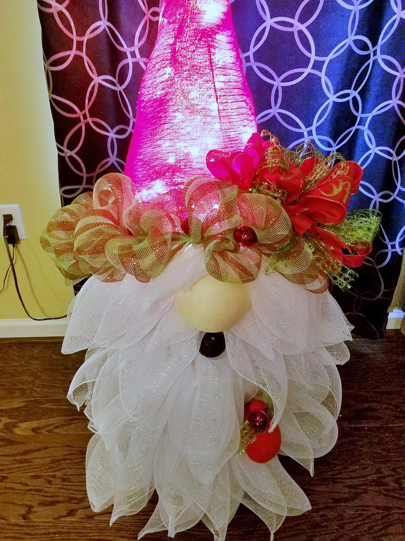 DIY craft projects TUTORIAL Santa Gnome Christmas tree