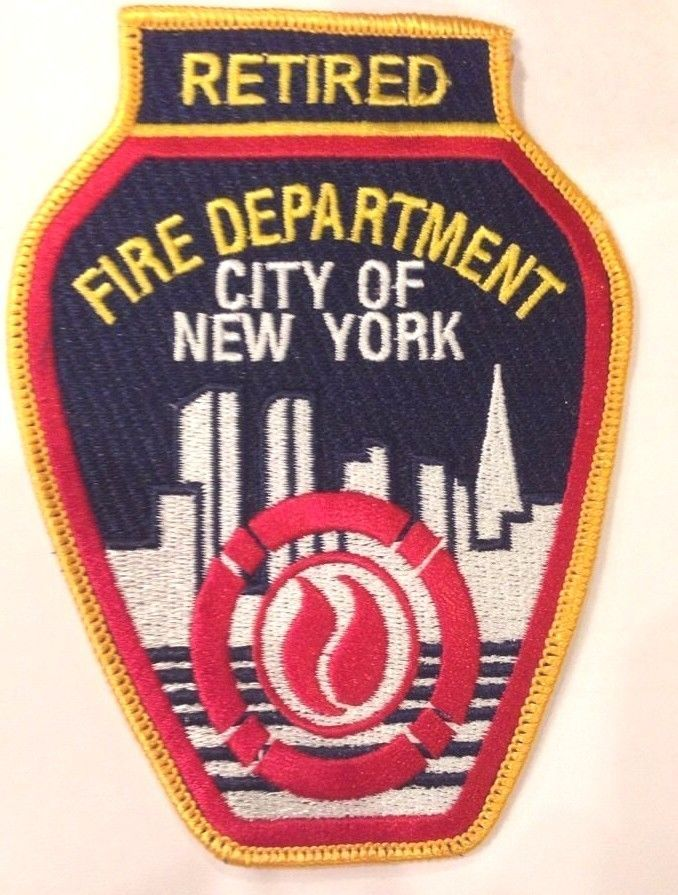 """New York City NY Fire Dept. FDNY """"Retired"""" Patch"""