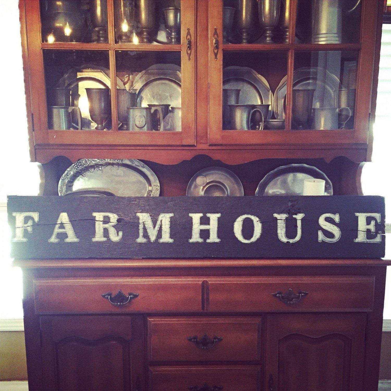 Farmhouse Reclaimed Barnwood Sign by BarnwoodandBluegrass on Etsy https://www.etsy.com/listing/223739408/farmhouse-reclaimed-barnwood-sign
