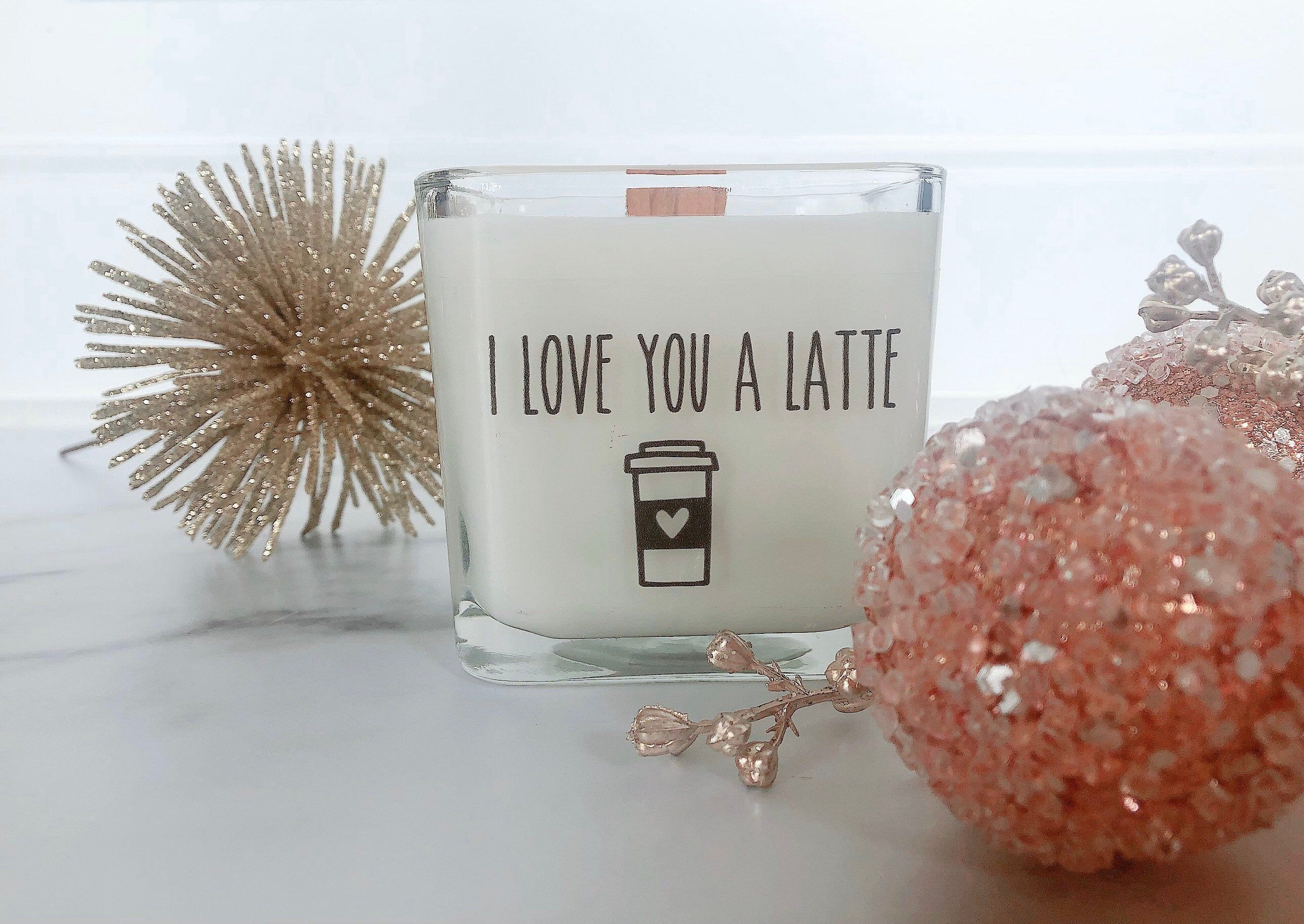 New I Love You A Latte Candle Missing You Gifts Valentine S