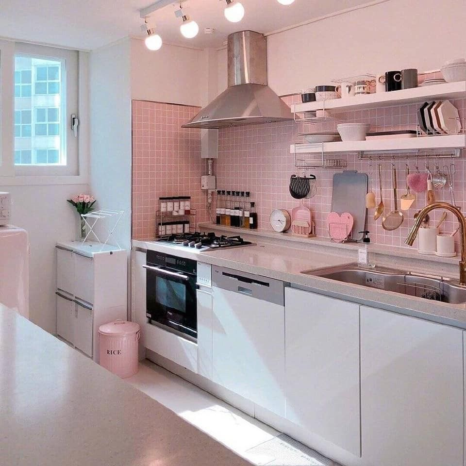 pin by jaders on dream living ideas aesthetic room decor kitchen design small study room decor on kitchen interior korean id=99833