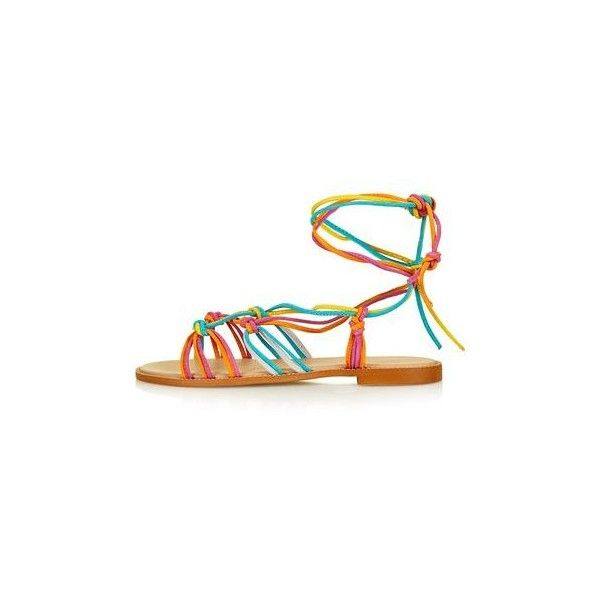 44dbf0c4578b TopShop Funfair Knotted Sandals (£42) ❤ liked on Polyvore featuring shoes