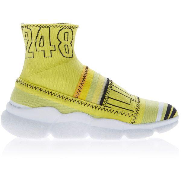 branded sock sneakers - Yellow & Orange Msgm YfvurBHff
