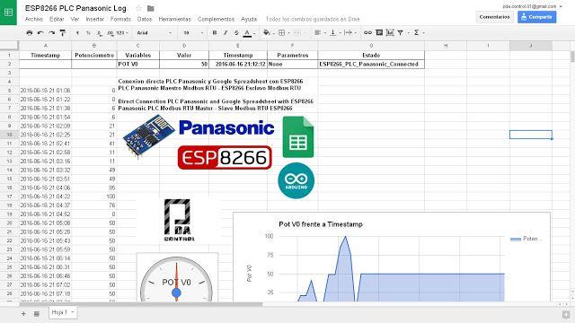 PLC Connection Fpx C14 Panasonic and Google spreadsheets (Google - spreadsheet google docs