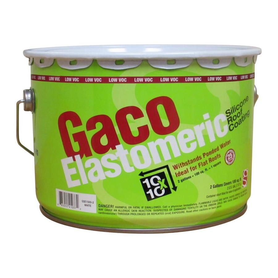 Gaco Elastomeric 2 Gallon Silicone Reflective Roof Coating 50 Year Limited Warranty Lowes Com In 2020 Roof Coating Elastomeric Roof Coating Membrane Roof
