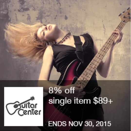 8 off at guitar center a great offer for all music lovers at im in coupons httpwwwimincomstore couponsguitar center