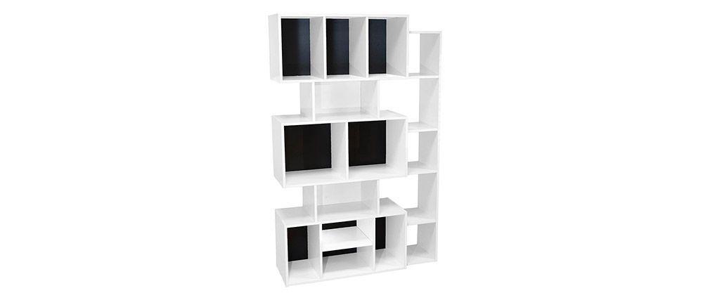 Bibliotheque Design Blanche Avec Fond Noir Ou Blanc Folco Bibliotheque Design Fond Noir Miliboo
