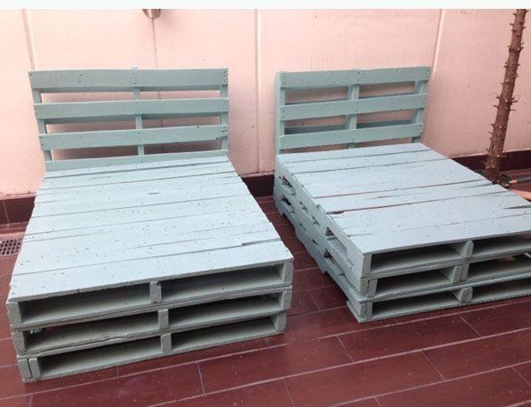 5 esquemas para hacer muebles con pallets ideas for Reciclar una cama de madera