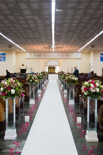 Tapete Branco, Buquet da noiva, rosa, pink, decoraç u00e3o Rosa e Branco, Igreja Evangelica, Igreja