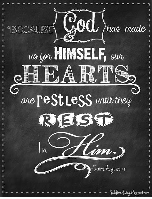 Chalkboard Quote Art Design Our Hearts Belong To Him St
