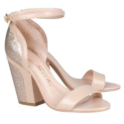6ef7e6b0b Sapatos Femininos 2017 na Luiza Barcelos. sandálias com salto grosso.  SANDÁLIA SALTO GROSSO BEGE COM GLITTER - Luiza Barcelos