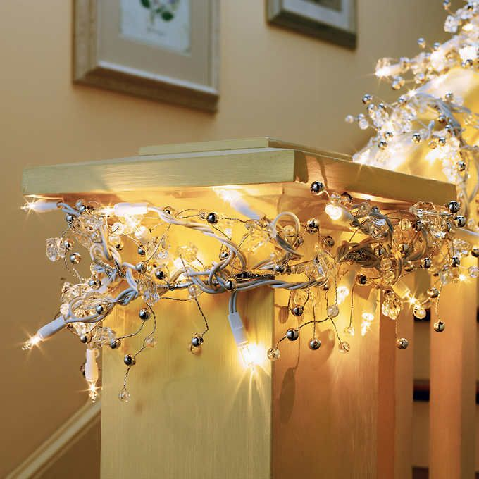 Costco 35 Ge 9 Ft Glitter Gem Garland With 100 Constant