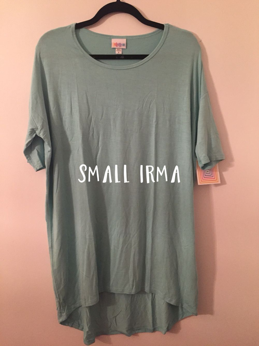 """Small Irma.   Shipping is $3.50 for one item or $7 flat rate for 2+ items. Please comment """"SOLD"""" and message me with your state of residence and email address for me to send you an invoice.   Visit me at https://www.facebook.com/BrookieBLuLaRoe/"""