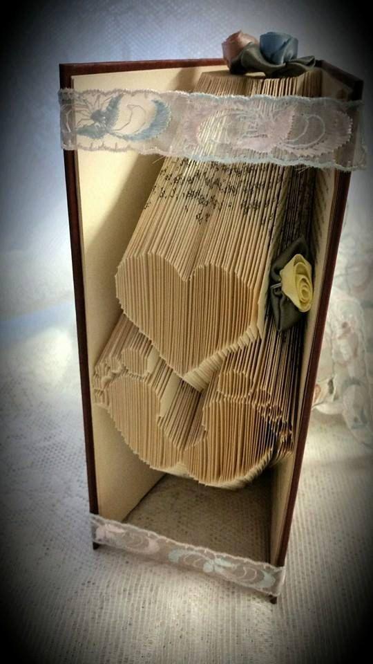 Bookfolding Pattern Babyfeet and heart by Tinasbookfold on Etsy