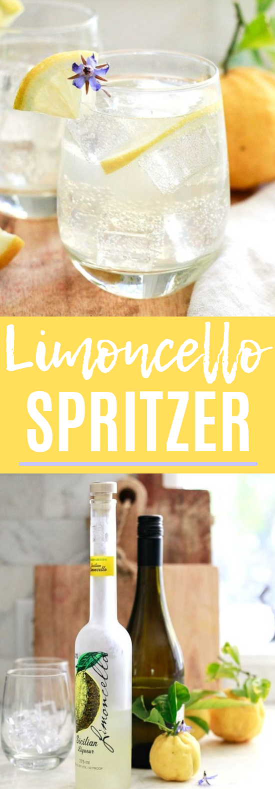 Limoncello Spritzer #lemon #cocktails #limoncellococktails