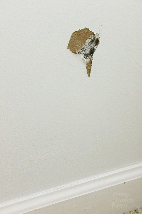 The Super Simple Way To Fix Holes In Drywall Patch Hole Repair Drywall Hole How To Patch Drywall