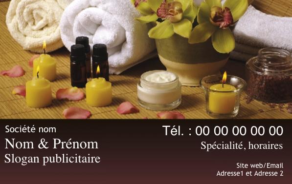 Carte De Visite Massage Bien Etre Creez Gratuitement A Partir Modele En Ligne Votre
