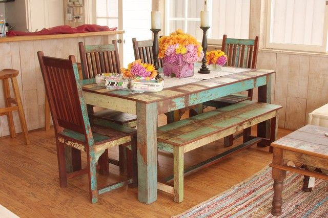 Rustic Wood Dining Room Home House Design Table Decor Interior