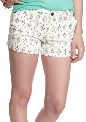 BeBop  Tribe Stamp Stripe Twill Shorts