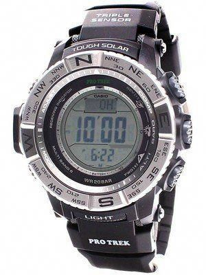 f276599e896 Casio Protrek Digital Atomic Tough Solar Triple Sensor PRW-3500-1D Watch