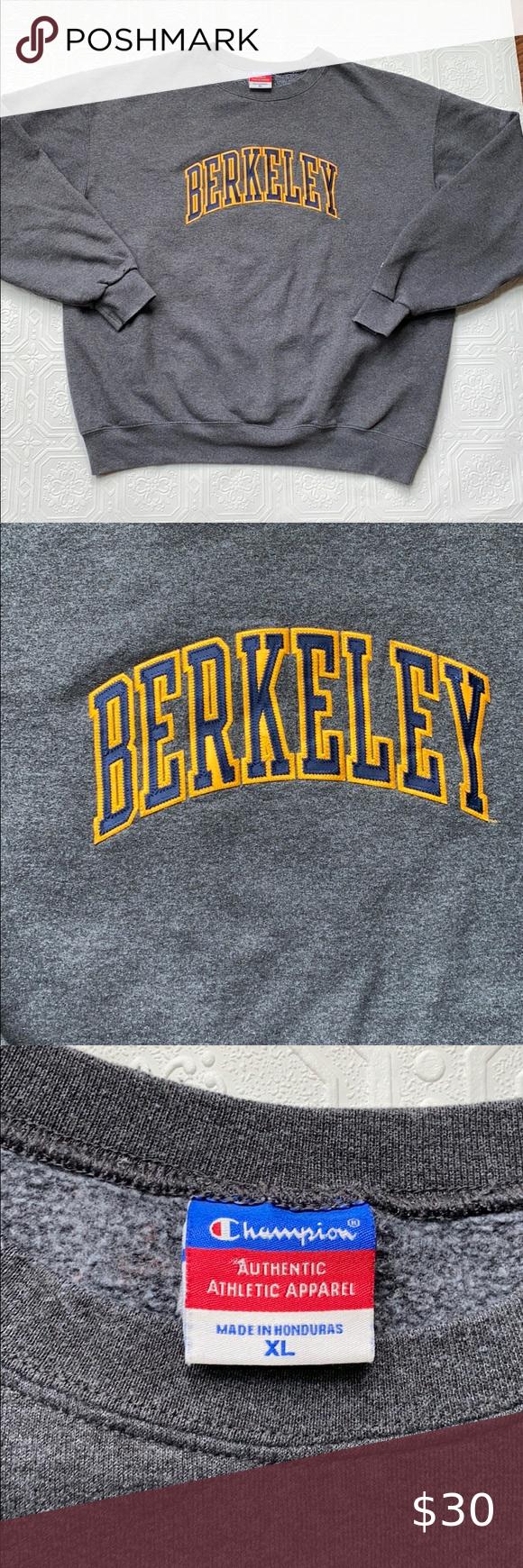 Vintage 90s Berkeley Champion Sweatshirt Champion Sweatshirt Sweatshirts Champion Sweatshirt Vintage [ 1740 x 580 Pixel ]