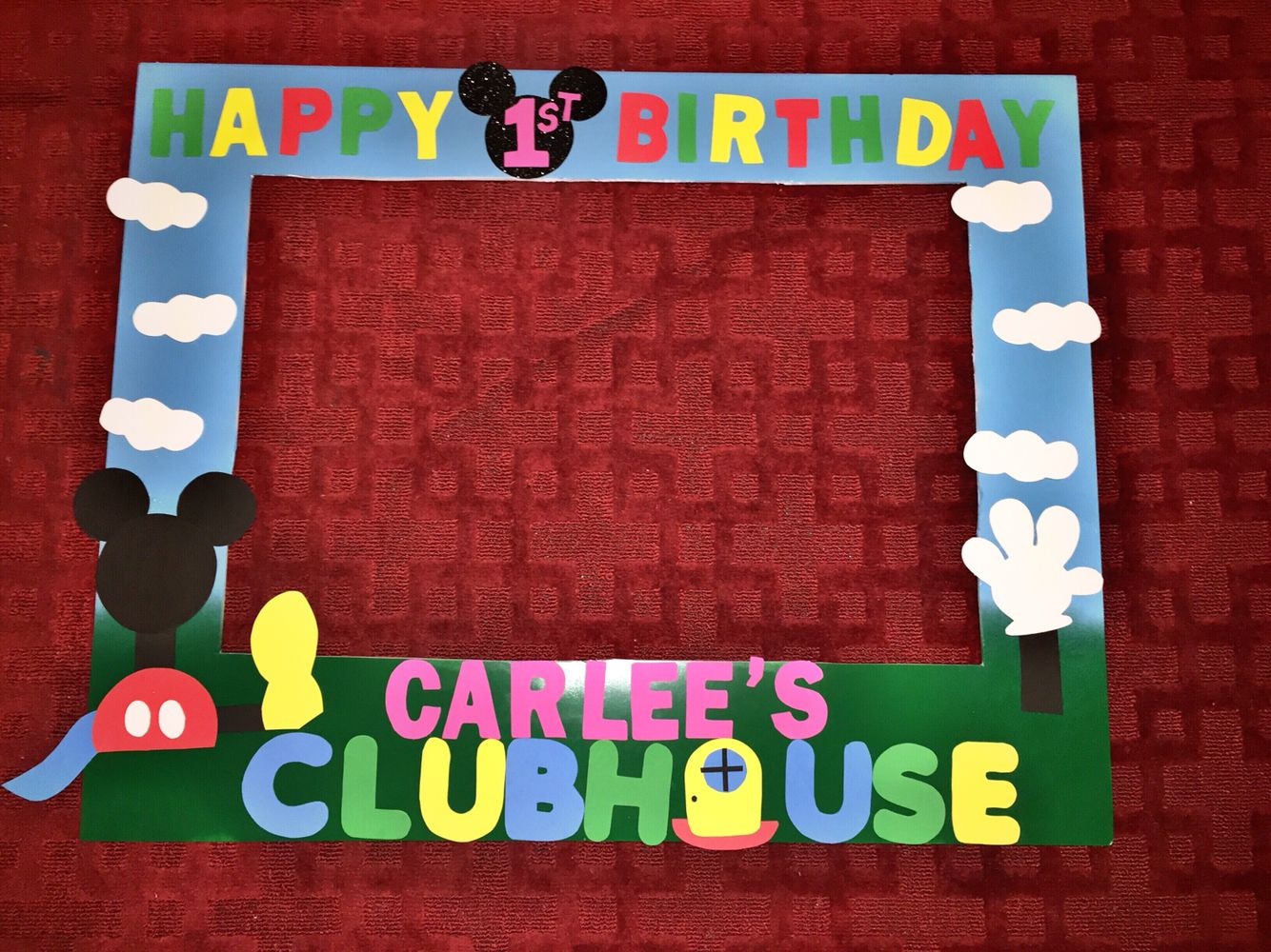 Mickey Mouse Clubhouse Frame For A Girl Mickey Mouse Clubhouse