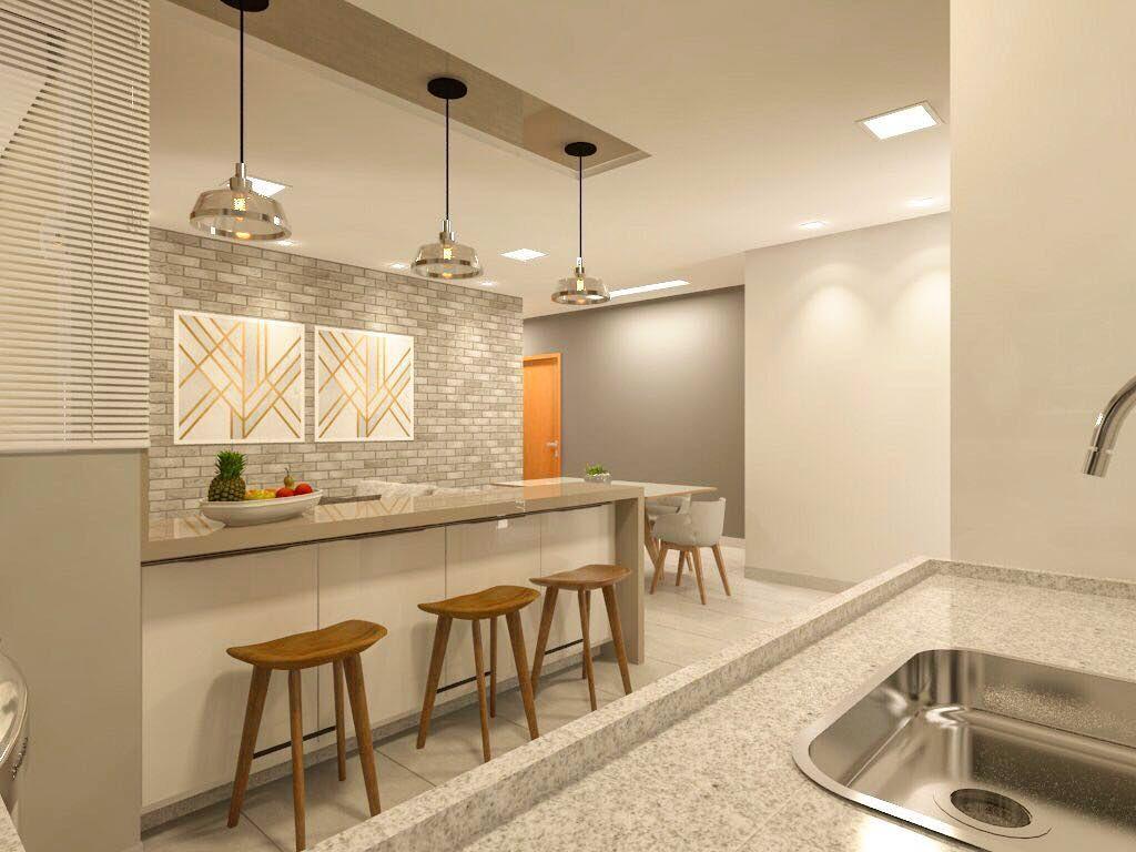 Projeto De Interiores Integracao De Cozinha Jantar E Mini Sala