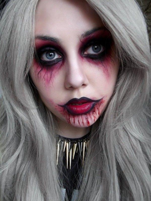 Halloween Punk Vampire Makeup Ideas For Girls To Learn In 2014 #Halloween #makeup | Halloween ...