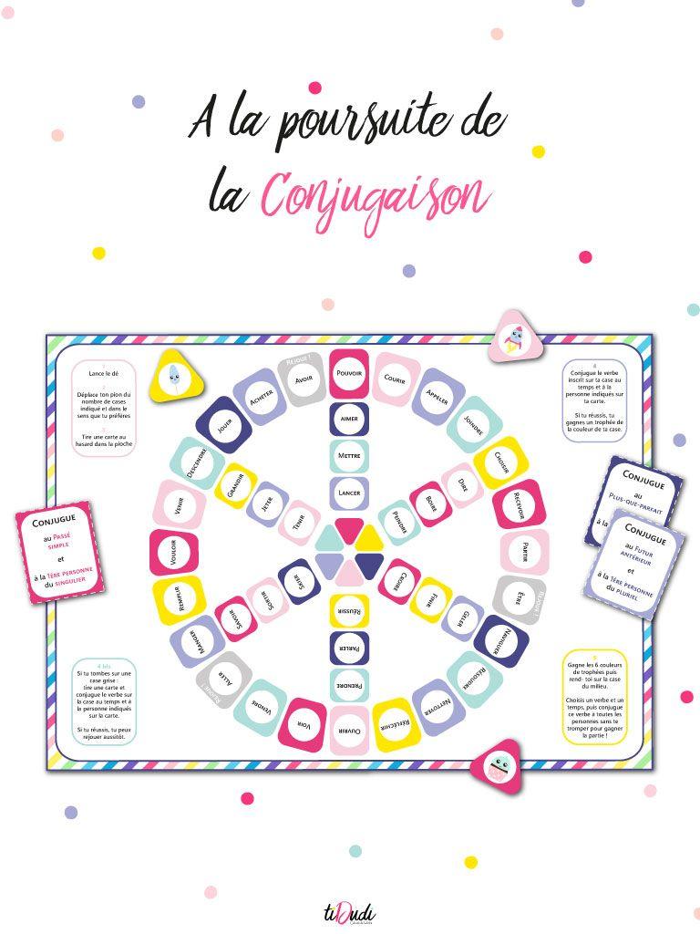 Jeu De Conjugaison A La Poursuite De La Conjugaison Tidudi Jeu Conjugaison Jeux De Maths Cm2 Jeux Ce2