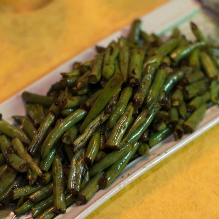 Sauteed Green Beans with Balsamic Vinegar #greenbean