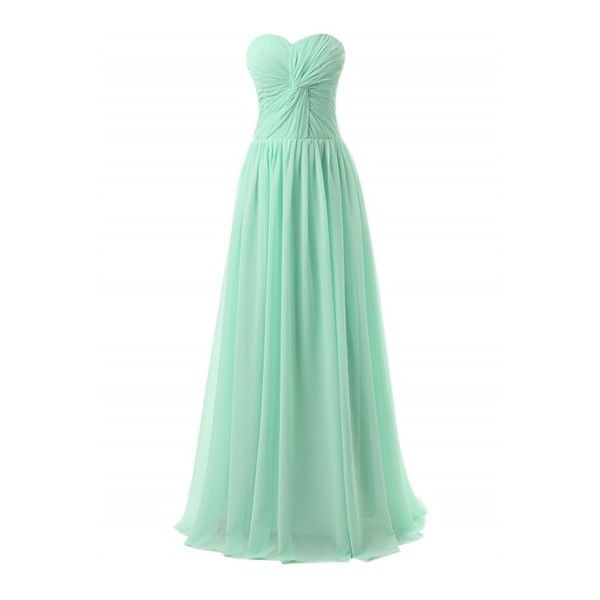 Women's Elegant Knot Front Strapless Prom Dress ($58) ❤ liked on Polyvore featuring dresses, green dress, slim fit dress, cocktail prom dress, strapless cocktail dresses and slim prom dresses