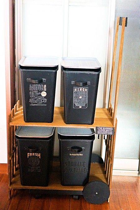 100均すのこと木板で作る 分別ゴミ箱収納ワゴン 暮らしニスタ ゴミ箱 分別 ワゴン 収納 ゴミ箱