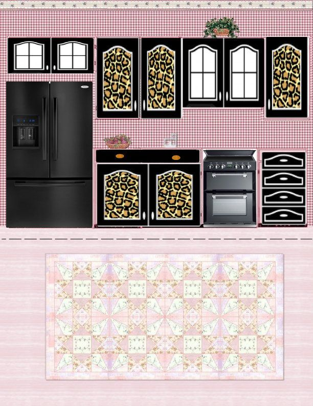 graphic relating to Free Printable Dollhouse Furniture Patterns identified as Totally free Printable Dollhouse Kitchen area Through Julieta Sandoval