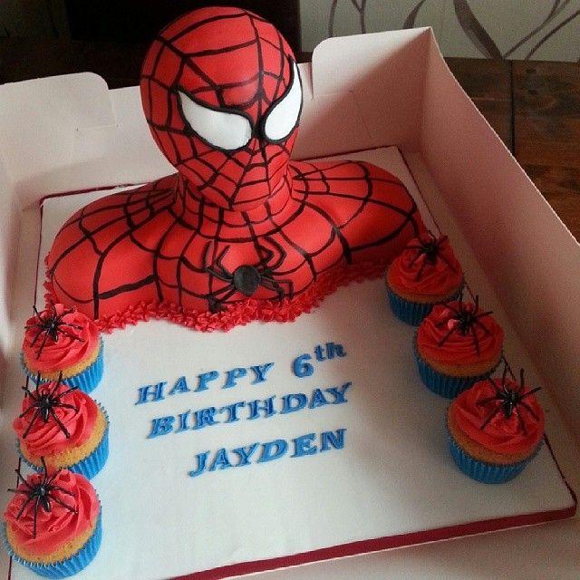 Jacqross Spiderman 3d Bust Birthday Cake Happybirthday