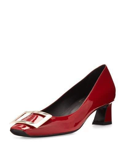 c23cc5afdd8 Roger Vivier Trompette Patent 45mm Pumps, Red in 2019   Products ...