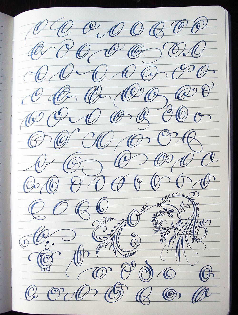 Calligraphy Cursive Capital Letters : calligraphy, cursive, capital, letters, Capital, Letters, Behance, Lettering, Alphabet, Fonts,