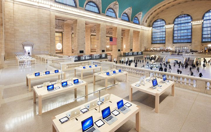 Apple Store Grand Central New York Retail Design Blog Apple Store Grand Central Apple Retail Store Apple Store Design