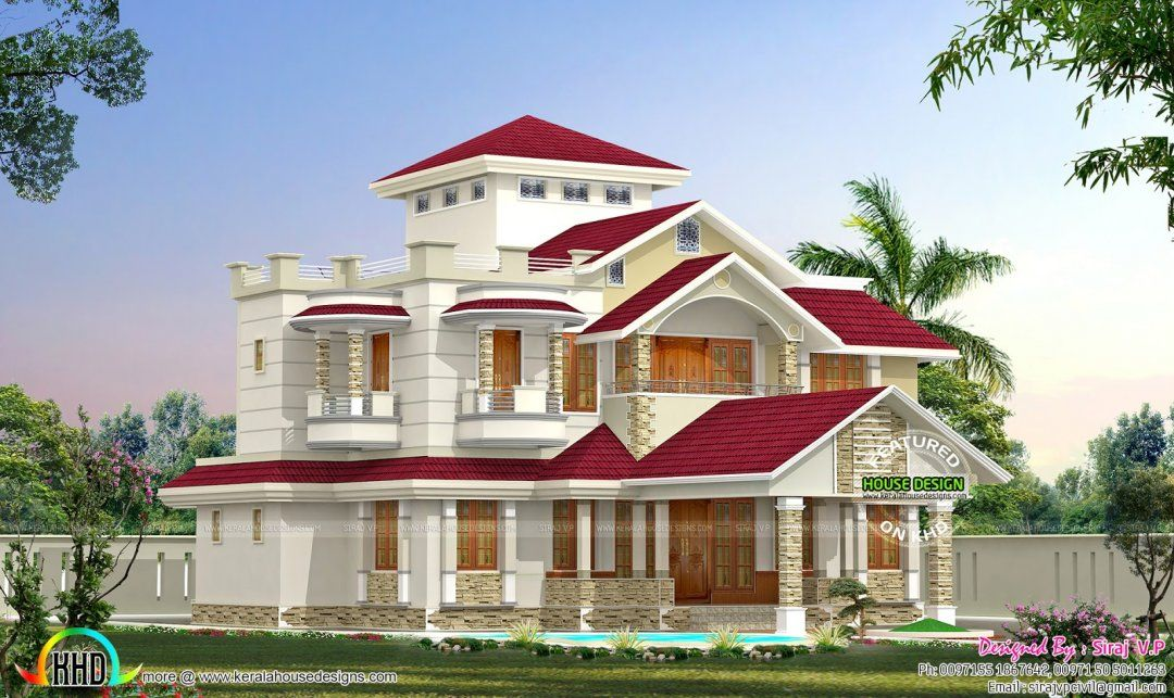 Red Tiled Roofs Nice Roof Designs Roofing Style Design Smalltowndjs Com House Home Decor Catalogs House Design Pictures Architecture House House Balcony Design