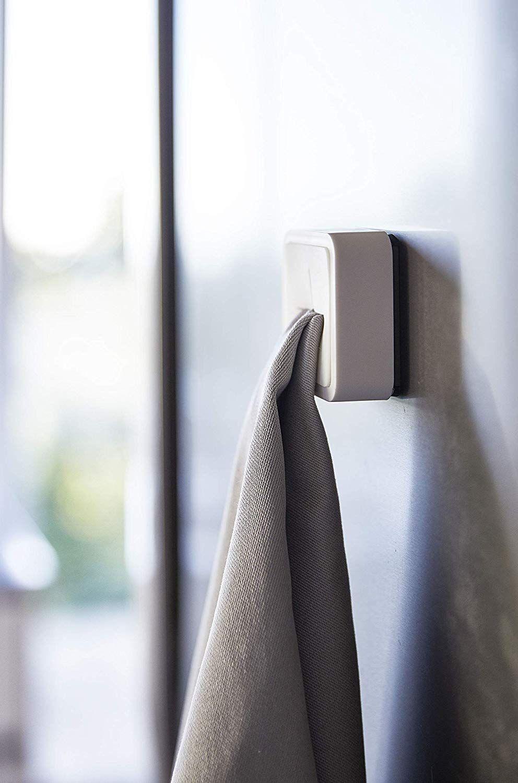 掛け直しも片手で手早くできる 押し込むだけのタオル掛け Roomie ルーミー 2020 インテリア 収納 タオル インテリア
