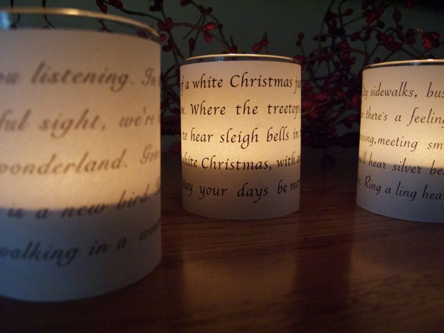 DIY Vellum candleholders.  I'd like to make these with a nativity scene.