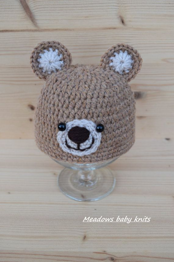 08b0a11e232 A super soft hand crocheted Teddy Bear hat. This hat is perfect for  photography…