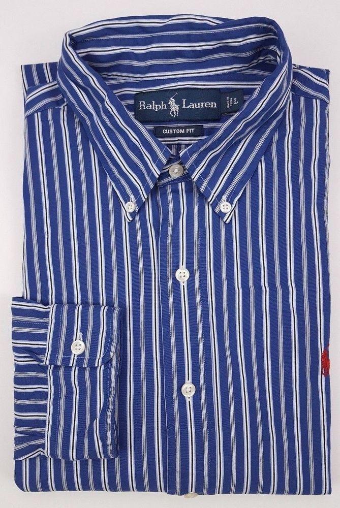 Ralph Lauren Custom Slim Fit Striped T-Shirt, Navy Multi