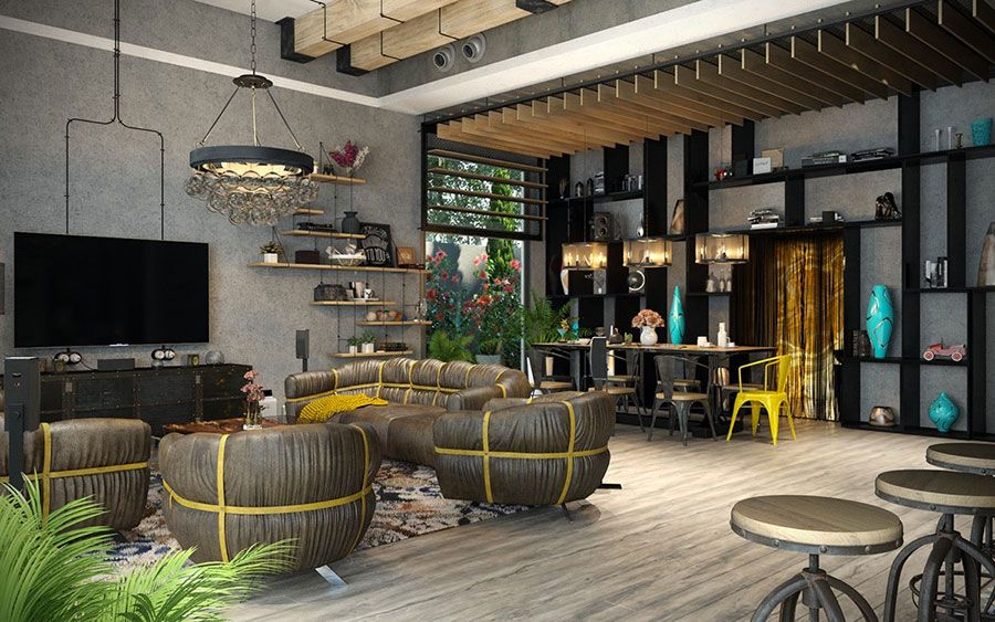 Arredamento stile industriale per loft idee dal design unico