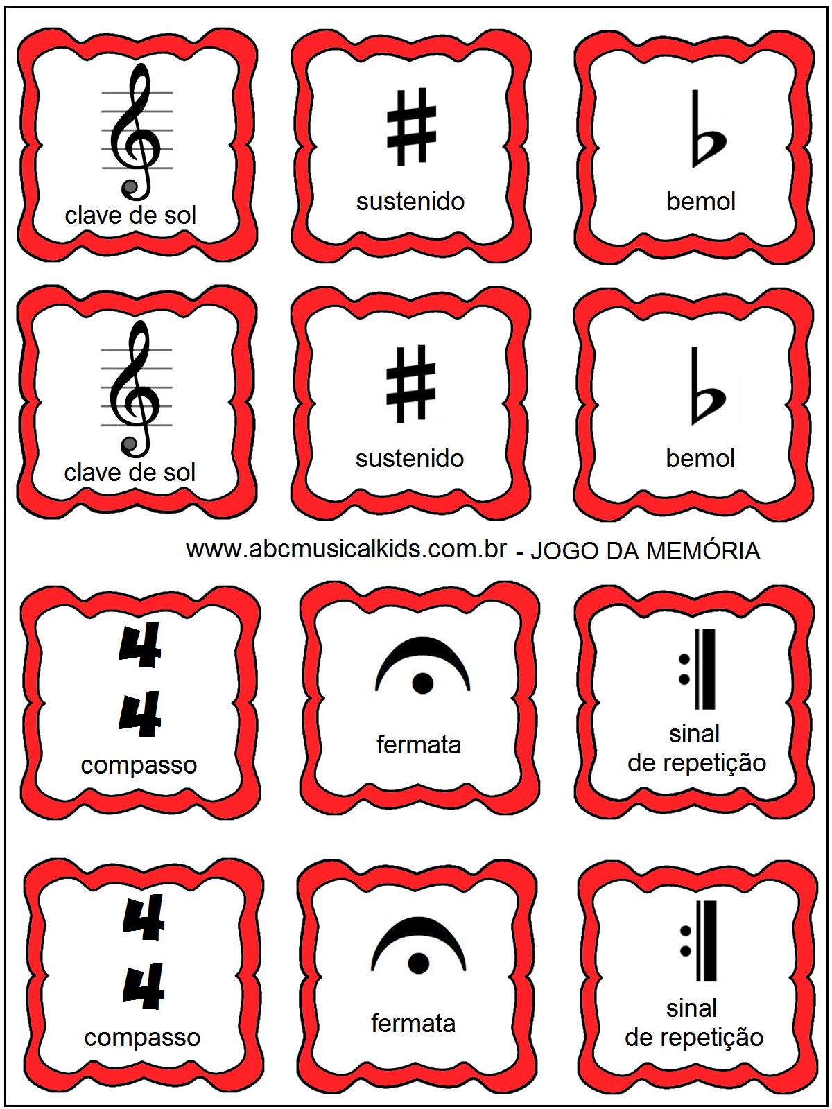 ATIVIDADES DE EDUCAÇÃO INFANTIL E MUSICALIZAÇÃO INFANTIL: Jogo da ...