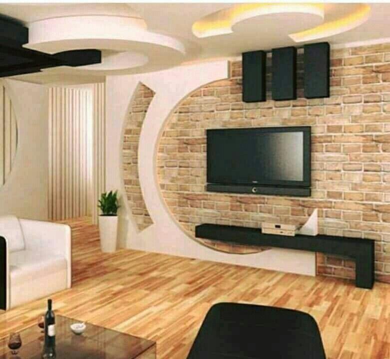 Pin By Isolse Gaspar On Interiors Tv Wall Design Tv Room Design Wall Tv Unit Design